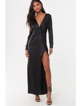 Satin Twist Front Gown by Forever 21