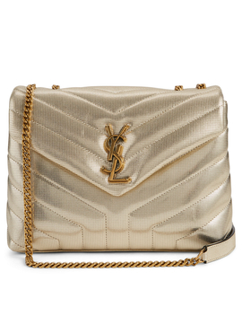 Small Loulou Ysl Monogram Metallic Leather Chain Bag by Holt Renfrew