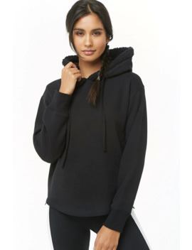 Active Faux Shearling Trim Hoodie by Forever 21