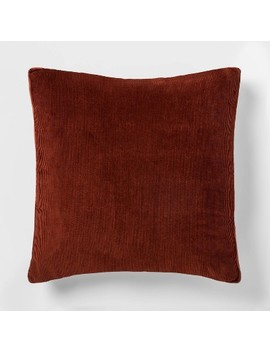 Square Corduroy Throw Pillow With Gusset   Project 62 by Project 62