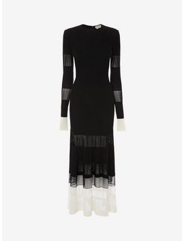 Engineered Ottoman Knit Dress by Alexander Mc Queen