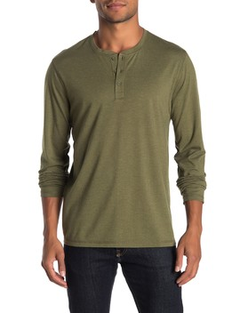 Long Sleeve Solid Henley by Public Opinion