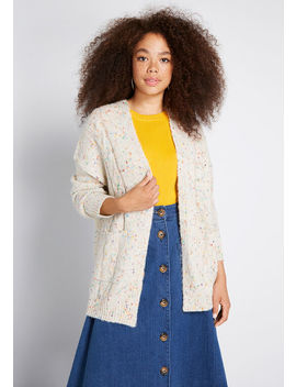 Partial To Polka Dots Long Cardigan by Modcloth
