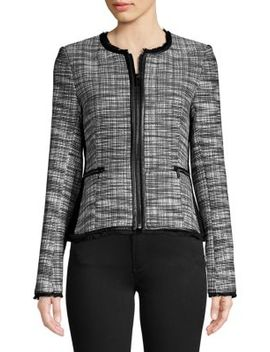 Quilted Leather Jacket by Karl Lagerfeld Paris