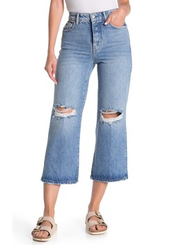 Ranger Ripped Crop Wide Leg Jeans by Free People