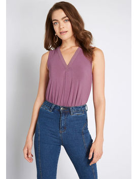 A Welcome Change Sleeveless Top by Modcloth