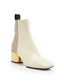 Two Tone Leather Ankle Boots by Proenza Schouler