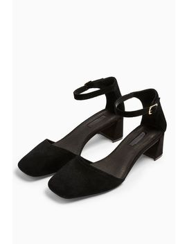 Jay Leather Square Toe Block Shoes by Topshop