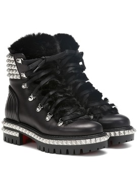 Yeti Donna Leather Ankle Boots by Christian Louboutin