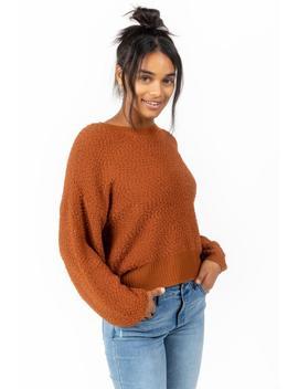 Kylar Popcorn Sweater Top by Francesca's