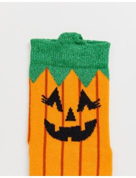 Asos Design   Halloween   Chaussettes à Motif Tête De Citrouille by Asos Design