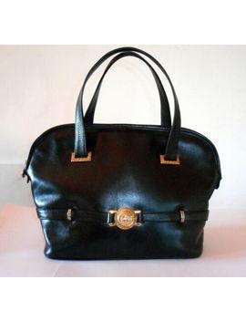 Gianni Versace Medusa Head Calf Leather Alma Handbag Rarest Vintage 1995 Superb by Gianni Versace