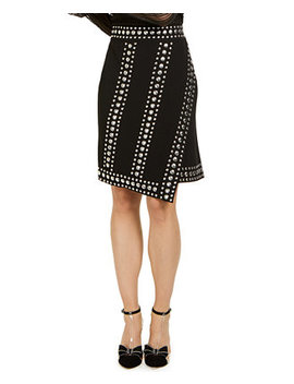 I.N.C. Studded Wrap Skirt, Created For Macy's by General