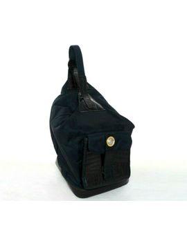 Gianni Versace Backpack Shoulder Gold Black Sling Medusa Head Leather Bag Pack by Versace