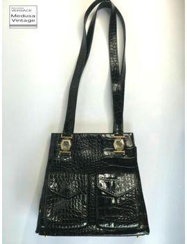 Gianni Versace Vintage '94 Genuine Crocodile Leather Shoulder Bag Medusa Italy by Gianni Versace