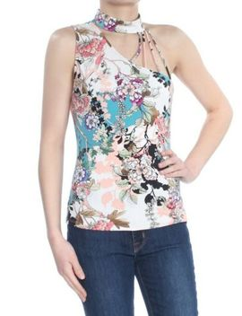 Guess Womens New 1805 Pink Floral One Shoulder Choker Party Top S B+B by Guess