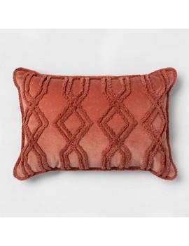 Thr Rose Velvet Chenille Oblong Dec Pillow by Shop This Collection