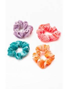 La Hearts Neon Velvet Scrunchie Pack by Pacsun