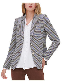 Two Button Houndstooth Jacket by General