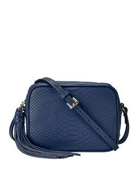 Madison Python Embossed Leather Crossbody Bag by Gigi New York