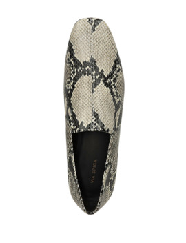 Baudelaire Snake Print Loafers by Via Spiga