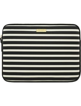 "Sleeve For 13"" Apple® Mac Book®   Fairmont Square Black/Cream by Kate Spade New York"