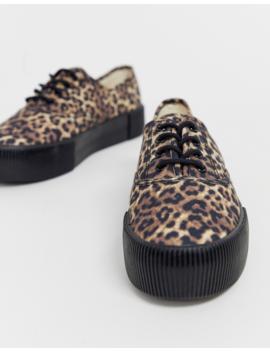 Monki Flatform Sneakers In Leopard Print by Monki
