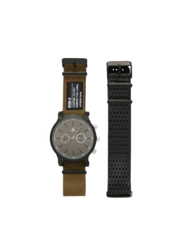 Analogue Watch With Interchangeable Canvas Strap by Bershka