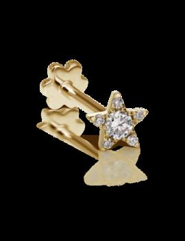 4.5mm Diamond Star Threaded Stud by Maria Tash