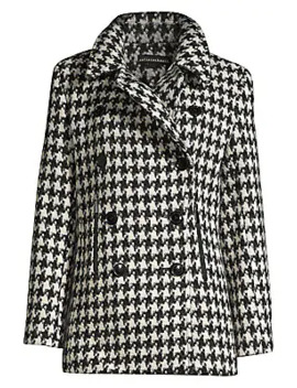 Houndstooth Peacoat by Sofia Cashmere