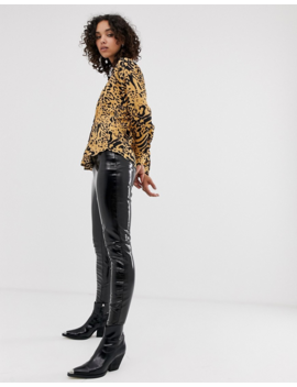 River Island Shirt In Abstract Leopard Print by River Island