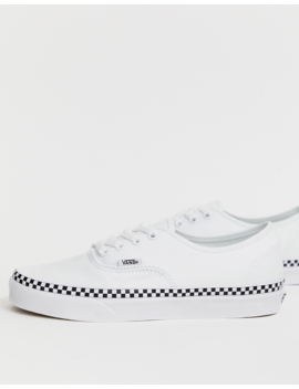 Vans Authentic Check Foxing White Sneakers by Vans