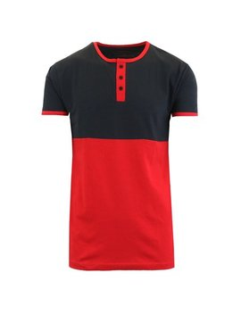 Mens Short Sleeve 100 Percents Cotton Henley Tees by Gbh