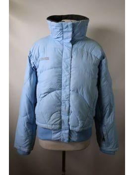 C1057 Women's Columbia Interchange Tech Goose Down Puffer Jacket Size L by Columbia