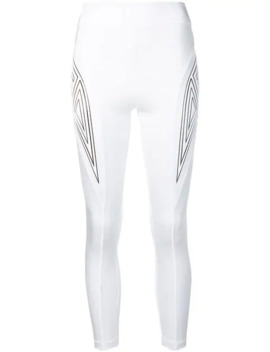 Patch Detailed Leggings by Fendi
