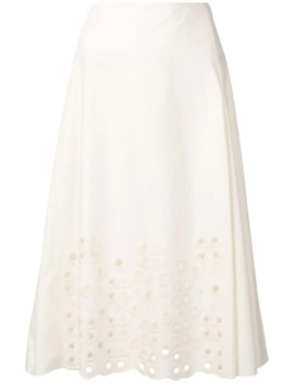 A Line Embroidered Skirt by Fendi