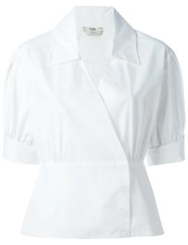 Shortsleeved Cotton Wrap Shirt by Fendi