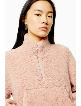 Kangaroo Pocket Borg Top by Topshop