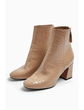**Wide Fit Belize Taupe Smart Boots by Topshop