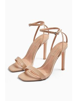 **Wide Fit Saskia Nude Skinny Two Part Heels by Topshop