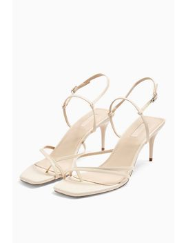 Nicole Cream Strappy Sandals by Topshop