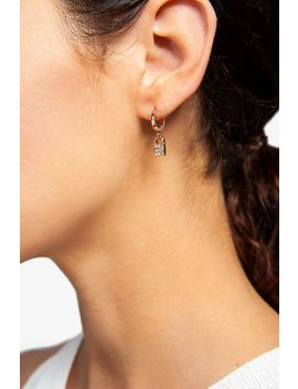 **Freedom Finer Pave Padlock Earrings by Topshop