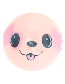 Puppy Ball Squish Toy   Pink by Claire's