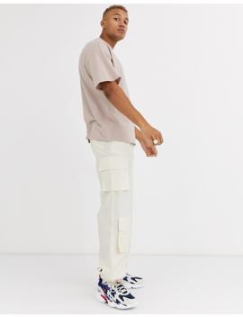 Asos Design – Übergroßes Pikee T Shirt Aus Bio Baumwolle Mit Rundhalsausschnitt In Beige by Asos