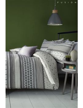 Fusion Retrace Geo Duvet Cover And Pillowcase Set by Next