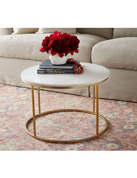 Delaney Round Coffee Table by Pottery Barn