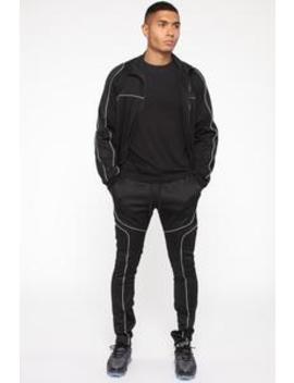Isaiah Track Jacket   Black by Fashion Nova