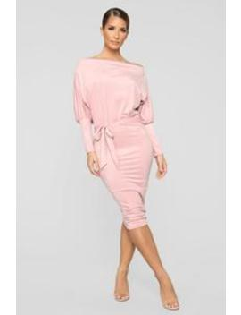 Our First Date Midi Dress   Pink by Fashion Nova