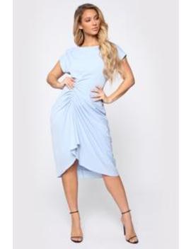 Antonia Midi Dress   Blue by Fashion Nova