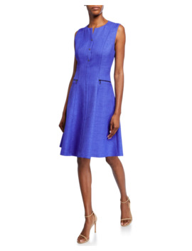 Peyton Sleeveless A Line Dress With Side Zip Details by Elie Tahari